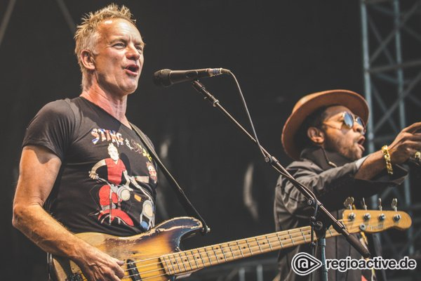 Liebe, Frieden und Reggae - Sting & Shaggy sorgen im Mainzer Volkspark für Sommerfeeling