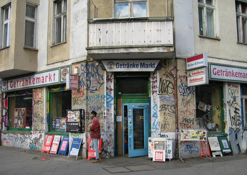 Die Revaler Straße in Berlin