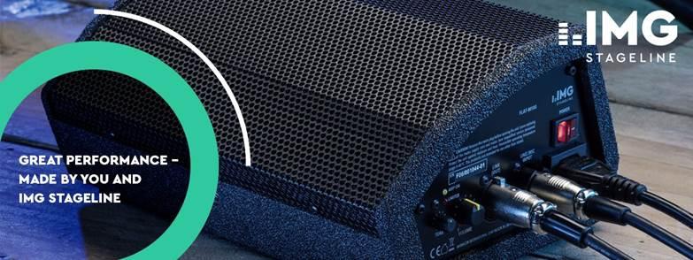 IMG Stageline stellt mit der FLAT-M100 eine kleine, leistungsfähige und vielseitige Aktivbox vor