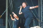 Ruhrpott-Rap: Fotos der Antilopen Gang live auf dem Highfield Festival 2018