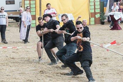 Hochland im Tiefland - Kraftvoll: Bilder der Highlandgames bei Rock im Hinterland 2018