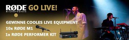RØDE go live: Zeigt euch auf der Bühne und gewinnt Preise in Höhe von über 1.500€ UVP!