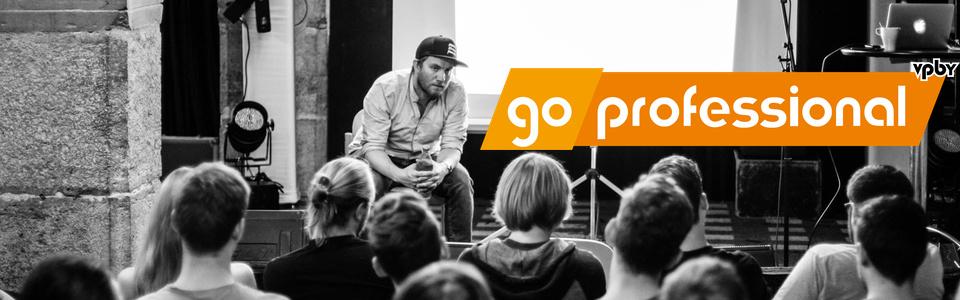 Gewinnt 5x2 Plätze für die GO PROFESSIONAL Workshopreihe des VPBy!