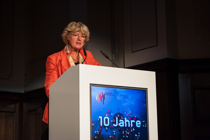 Monika Grütters beim zehnjährigen Jubiläum der Initiative Musik in Berlin