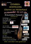 Gitarren aus Meisterhand - Gitarrenausstellung@Beer&Guitar - Brauerei Maisach