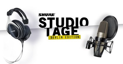 Recording, Übernachtung und Mixing/Mastering - Shure Studio Tage – Berlin Edition: Gewinne ein Studio-Wochenende!