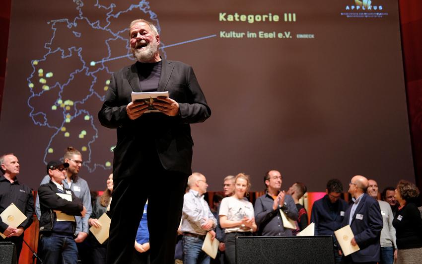 Prof. Dieter Gorny (Initiative Musik) bei der Verleihung des APPLAUS