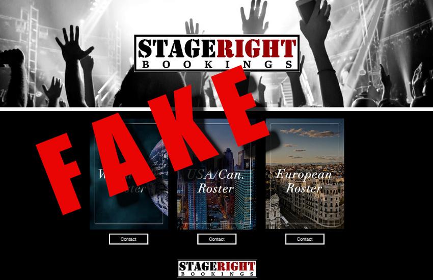 Der Threatin Scam: So warb die (fake) Bookingagentur für die Band