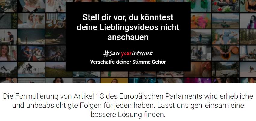 YouTube verstärkt Protest gegen die EU-Urheberrechtsreform, erhält aber auch Gegenwind