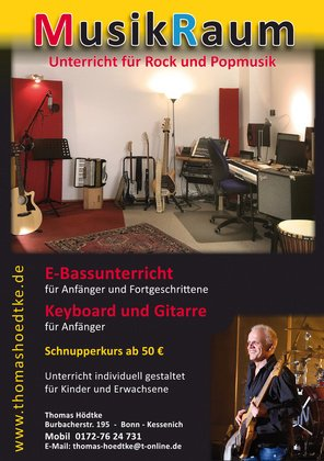 E-Bass lessons auch Online