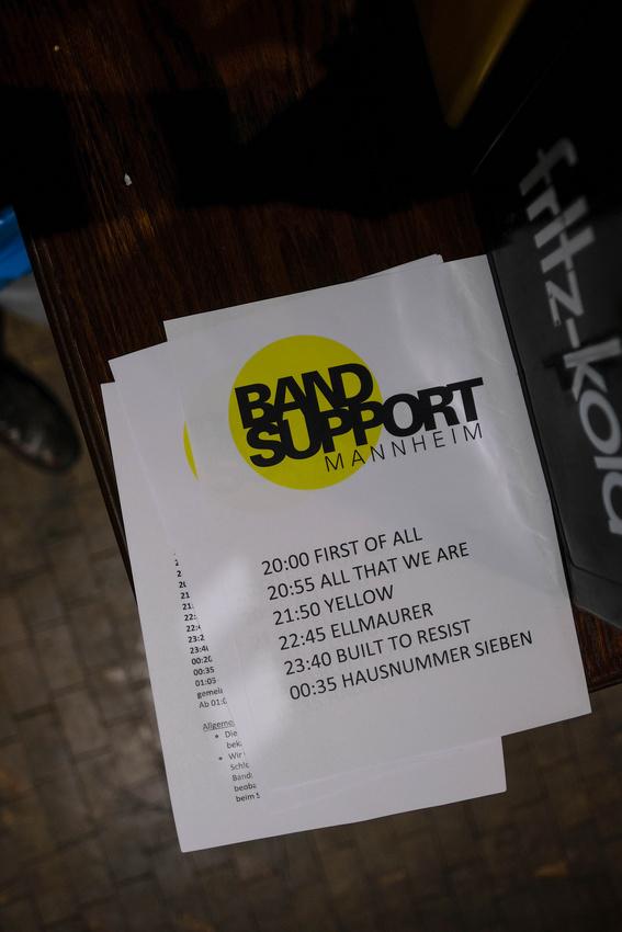Impressionen vom Bandsupport Abschlusskonzert 2018