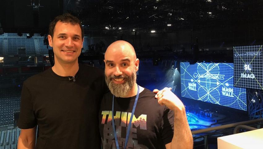 David Garcia (rechts) mit Games of Thrones-Komponist Ramin Djawadi.