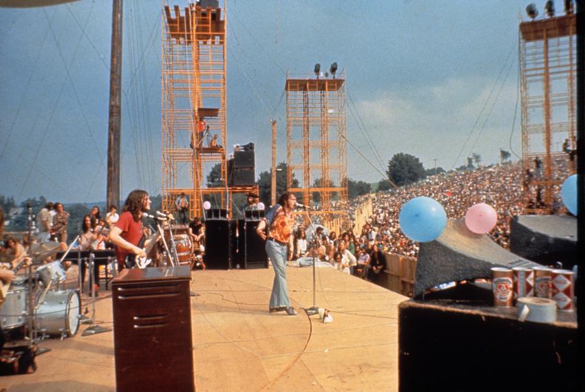Joe Cocker live beim legendären Woodstock Festival 1969.