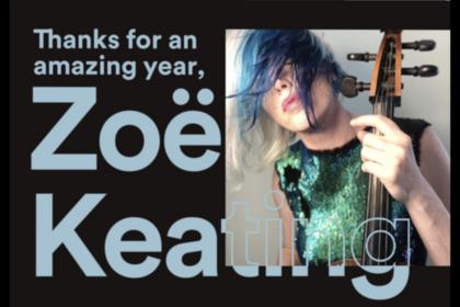 39,2% ihrer Miete - Zoe Keating veröffentlicht ihre Spotify-Bilanz für das Jahr 2018