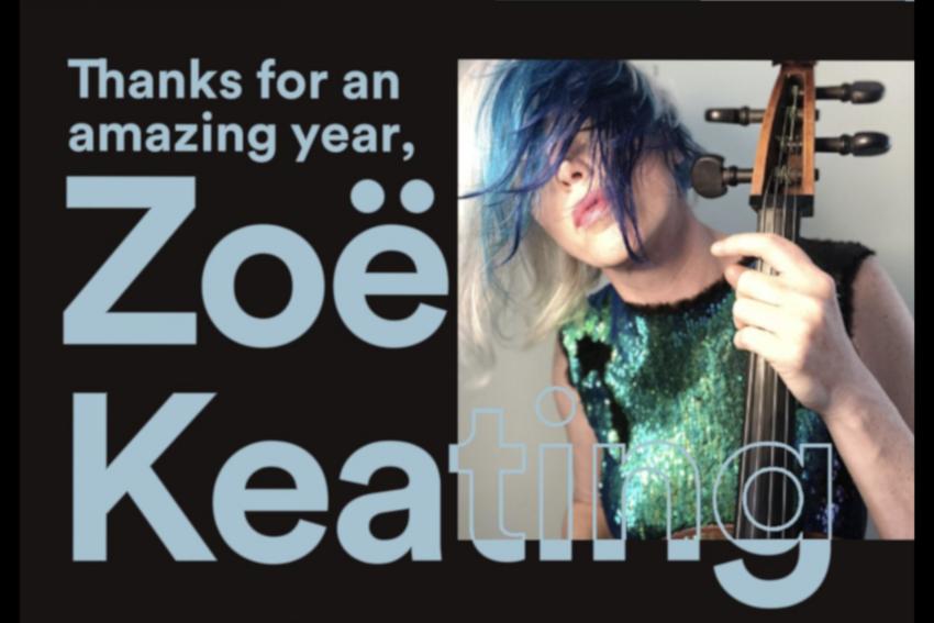 Zoe Keating veröffentlicht ihre Spotify-Bilanz für das Jahr 2018
