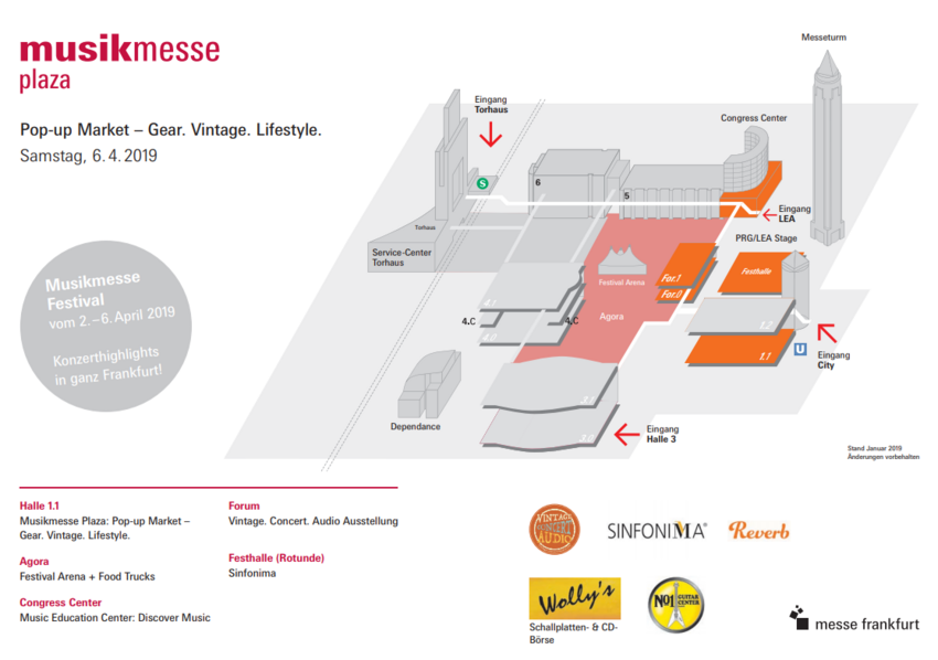 Der Lageplan der neuen Musikmesse Plaza
