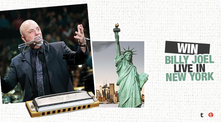 Contest: Gewinne eine Reise zum Billy Joel-Konzert nach New York