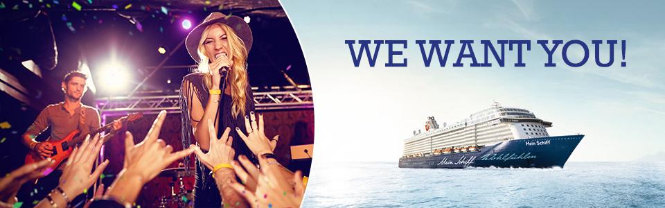 Sängerinnen und Sänger gesucht! Werde Teil der <i>Mein Schiff</i> Crew und verbringe den Winter in der Karibik