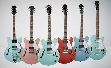Grün, Blau, Rot und Pink - Ibanez ergänzt die Artcore-Serie mit vier weiteren Farbvarianten
