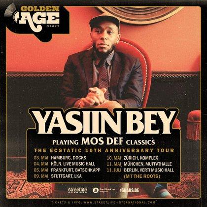 Doppelkonzert mit The Roots in Berlin - Yasiin Bey aka Mos Def spielt 2019 sechs Konzerte in Deutschland