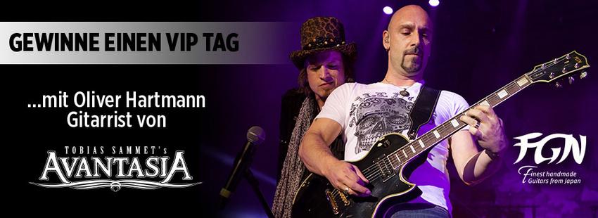 Gewinne einen VIP-Tag mit Oliver Hartmann, dem Gitarristen von Avantasia!
