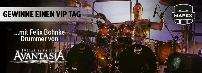 Gewinne einen VIP-Tag mit Felix Bohnke, dem Drummer von Avantasia!