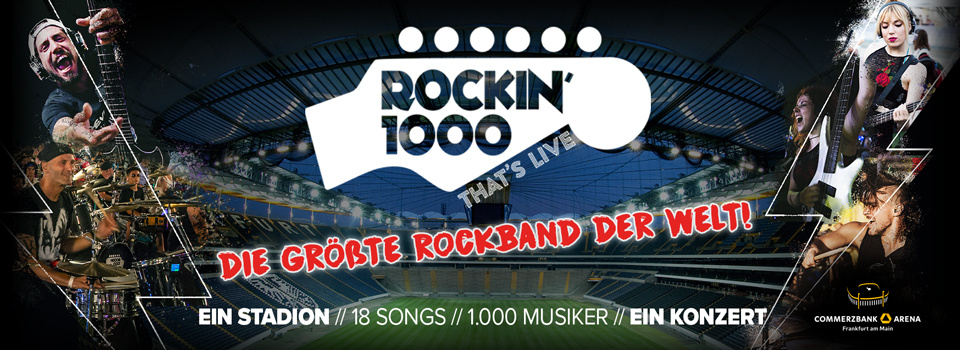 Be a part of ROCKIN'1000 - the biggest rock band in the world!