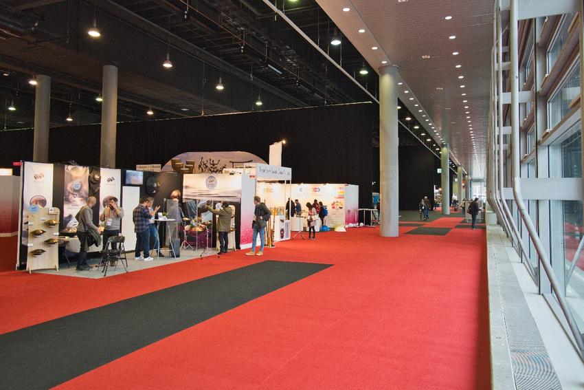 Die Musikmesse in der in mehrere Bereiche aufgeteilten Halle 3.0