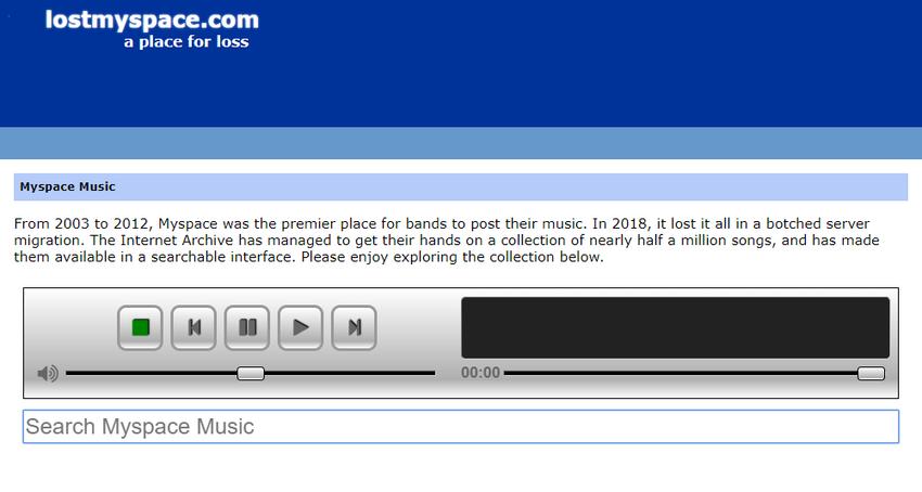 """The Internet Archive"" hostet 490.000 der verlorenen MySpace-Songs"