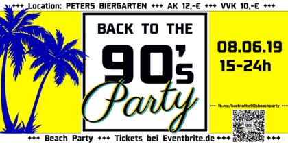 Back to the 90`s Open Air Beach Party