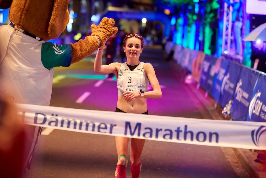 Den Marathon der Damen gewann Dioni Gorla in 2:59:22