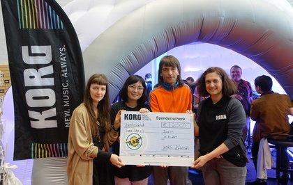 Spendenaktion während der Superbooth - KORG unterstützt die Einrichtung einer Musikschule