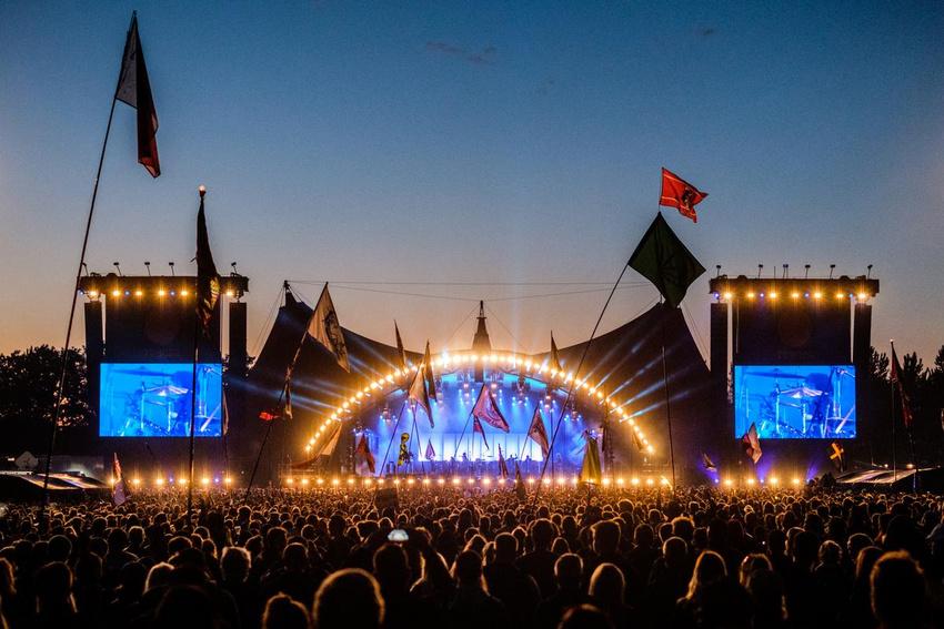 Die Orange Stage auf dem Roskilde Festival