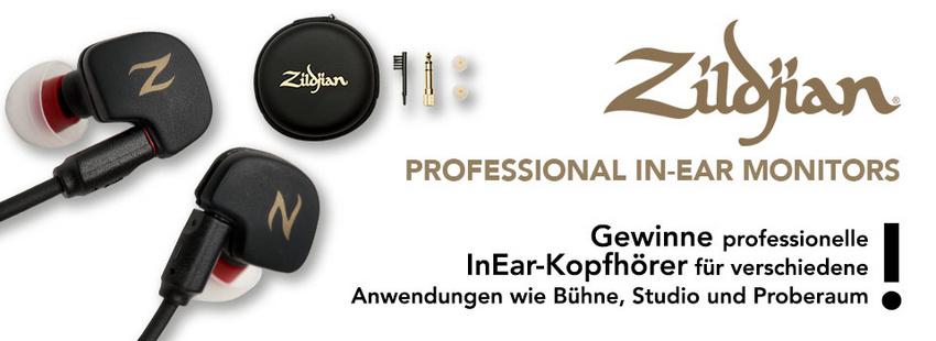 Gewinne die neuen Zildjian In-Ear-Kopfhörer für Drummer!