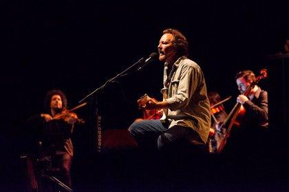 Einzigartig - Eddie Vedder: Bilder des Pearl-Jam-Sängers live in Düsseldorf