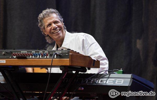 Mit spanischem Herz - Chick Corea: Bilder des Pianisten live bei den Jazzopen Stuttgart