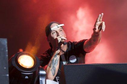 Brüder im Geiste - Bonez MC & RAF Camora: Bilder der Rapper live beim Highfield Festival 2019