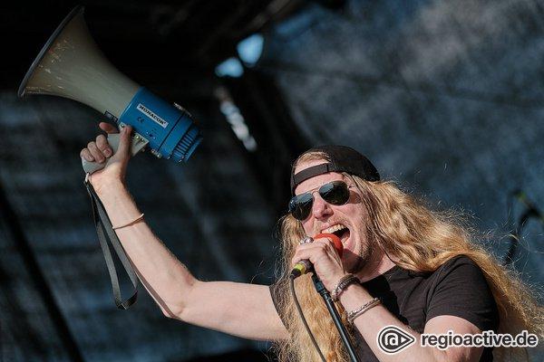 Rock'n'Roll der harten und lauten Sorte - Heiß: Live-Bilder von Slack Pile auf dem Museumsuferfest 2019 in Frankfurt