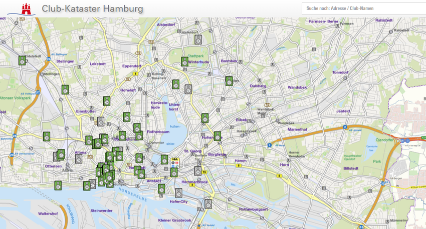 Club-Kataster des Clubkombinat Hamburg e.V. startet auf dem Reeperbahn Festival 2019