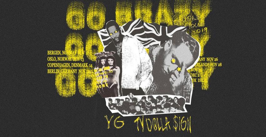 Doppelpack - US-Rapper YG & Ty Dolla Sign im November 2019 auf Deutschlandtour