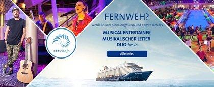 Mit TUI Cruises auf Kreuzfahrt - Fernweh? Werde Teil der Mein Schiff Crew und bewirb dich jetzt um deinen Job bei sea chefs!