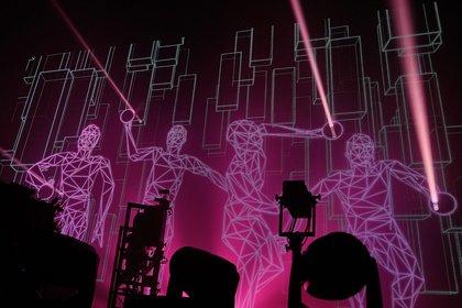 Brüder im Hintergrund - Effektvoll: Fotos von The Chemical Brothers live in der Festhalle Frankfurt