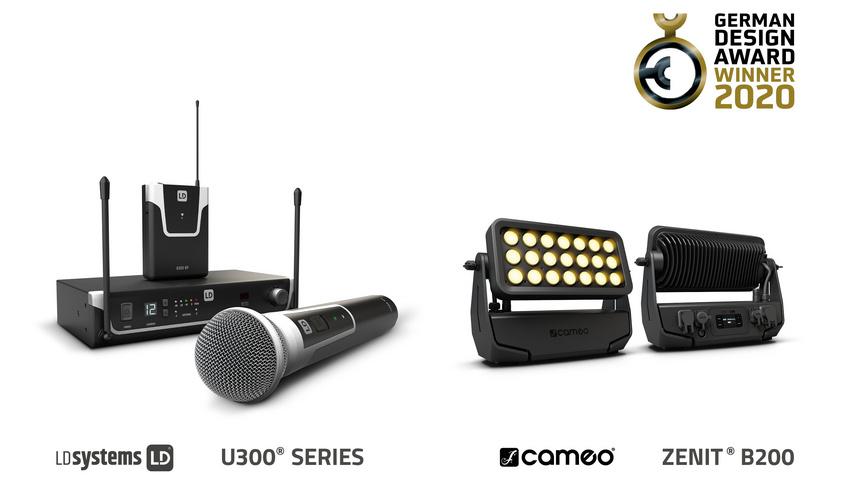 German Design Award 2020 für Cameo ZENIT® B200 und LD Systems U300® Serie