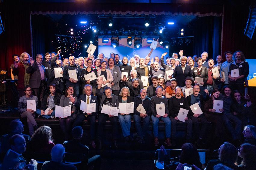 Der APPLAUS 2019 geht an 107 Liveclubs und Programmreihen in ganz Deutschland