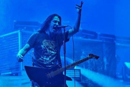 Skandinavischer Metal - Bilder von Hypocrisy als Vorgruppe von Amon Amarth live in Frankfurt