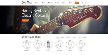 Junger Gitarren-Hersteller - Harley Benton launcht eigenständige Website