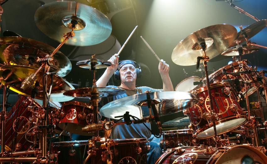 Neil Peart war auch für seine riesigen Drumkits bekannt