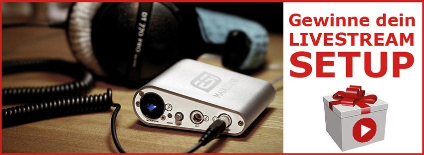 Gewinne Equipment-Setups für Livestreaming und Online-Sessions