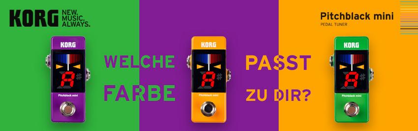 KORG #TUNERFIRST Days – gewinne die limitierte Sonderedition der Pitchblack mini Pedals!
