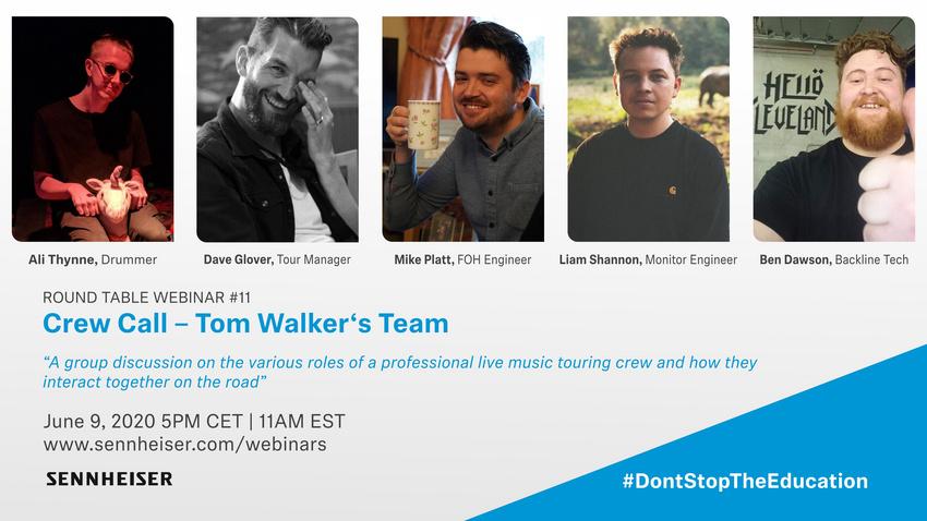 Crew Call - Tom Walker's Team